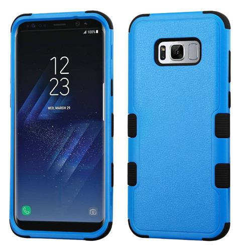 Insten Tuff Hard Hybrid Rubberized Silicone Case For Samsung Galaxy S8 - Blue/Black