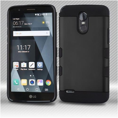 Insten Tuff Hard Dual Layer TPU Cover Case For LG Stylo 3 - Black