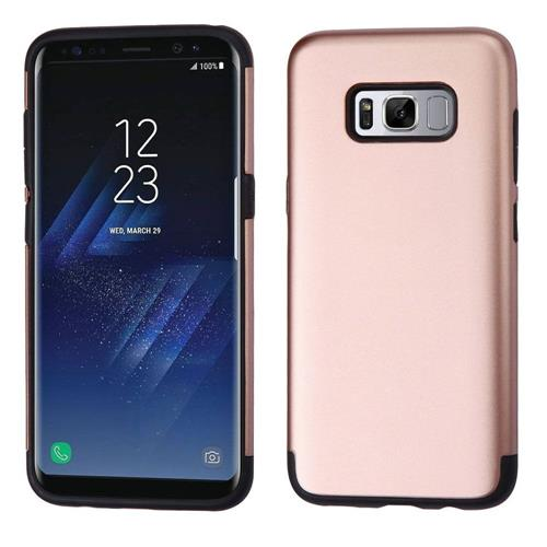 Insten Hard Hybrid TPU Cover Case For Samsung Galaxy S8 Plus - Rose Gold/Black