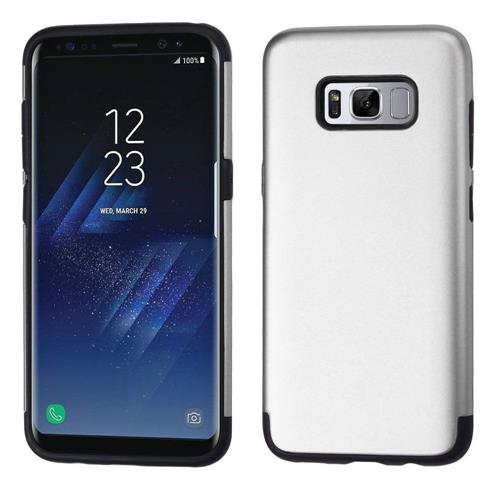Insten Hard Dual Layer TPU Case For Samsung Galaxy S8 Plus - Silver/Black