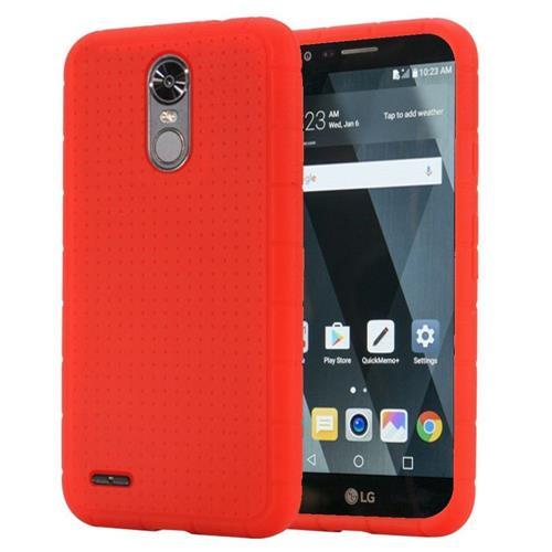 Insten Skin Rubber Case For LG Stylo 3 - Red
