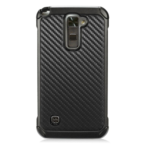 Insten Carbon Fiber Hard Hybrid TPU Case For LG Stylo 2 Plus - Black