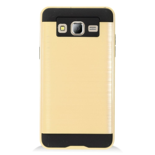 Insten Chrome Hybrid Brushed Hard Case For Samsung Galaxy On5 - Gold/Black