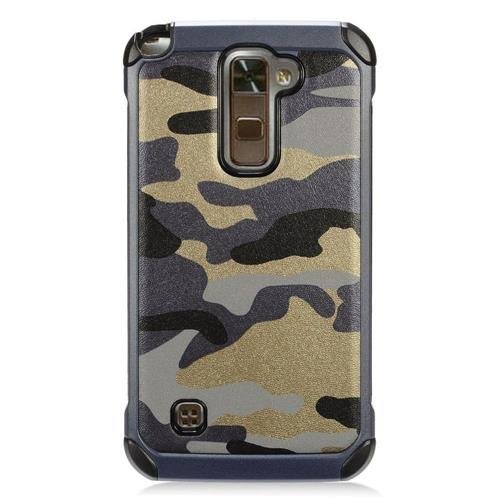 Insten Camouflage Hard Dual Layer TPU Cover Case For LG Stylo 2 Plus - Gray/Black