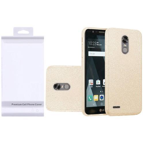 Insten Hard Hybrid Glitter TPU Case For LG Grace 4G/Harmony/K20 Plus/K20 V, Gold