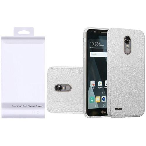 Insten Hard Dual Layer Glitter TPU Case For LG Grace 4G/Harmony/K20 Plus/K20 V, Silver