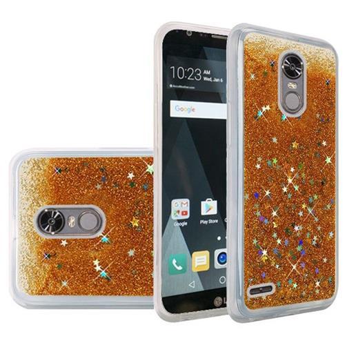 Insten Quicksand Hard Glitter Cover Case For LG Stylo 3/Stylo 3 Plus - Gold