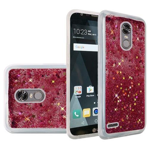 Insten Quicksand Hard Glitter Cover Case For LG Stylo 3/Stylo 3 Plus - Hot Pink