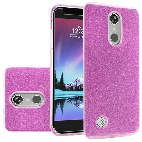 Insten Hard Dual Layer Glitter TPU Cover Case For LG Grace 4G/Harmony/K20 Plus/K20 V, Purple