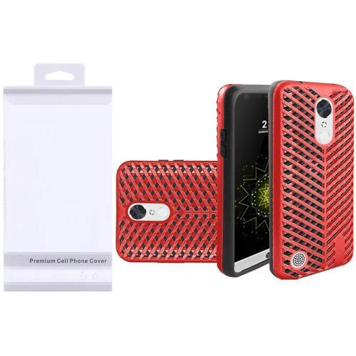 Insten Hard Hybrid Silicone Case For LG Grace 4G/Harmony/K20 Plus/K20 V, Red/Black