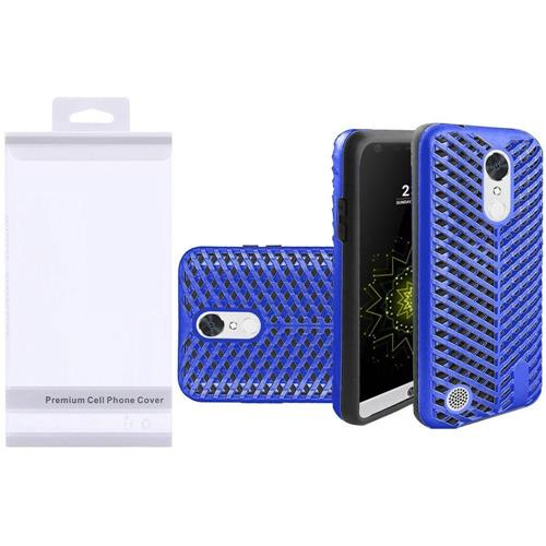 Insten Hard Hybrid Silicone Case For LG Grace 4G/Harmony/K20 Plus/K20 V, Blue/Black