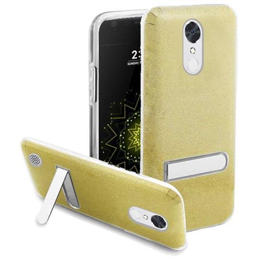 Insten Hard Hybrid Glitter TPU Cover Case w/stand For LG Grace 4G/Harmony/K20 Plus/K20 V, Gold