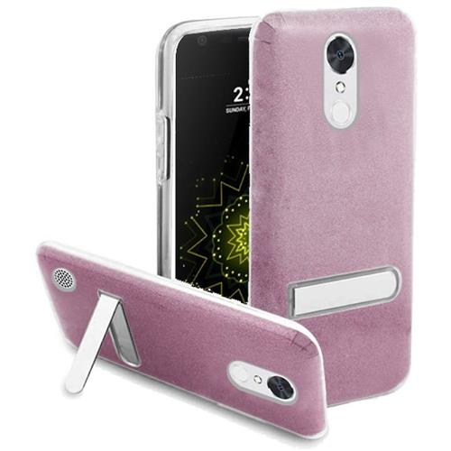 Insten Hard Dual Layer Glitter TPU Case w/stand For LG Grace 4G/Harmony/K20 Plus/K20 V, Hot Pink
