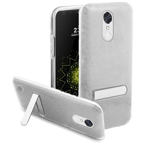 Insten Hard Hybrid Glitter TPU Case w/stand For LG Grace 4G/Harmony/K20 Plus/K20 V, Silver