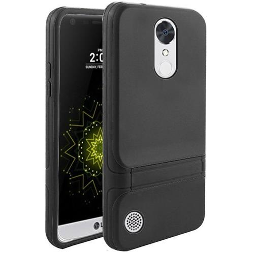 Insten Hard Dual Layer TPU Case w/stand For LG Grace 4G/Harmony/K20 Plus/K20 V, Black