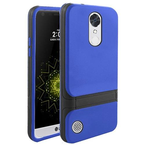 Insten Hard Dual Layer TPU Cover Case w/stand For LG Grace 4G/Harmony/K20 Plus/K20 V, Blue/Black