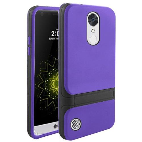 Insten Hard Dual Layer TPU Case w/stand For LG Grace 4G/Harmony/K20 Plus/K20 V, Purple/Black