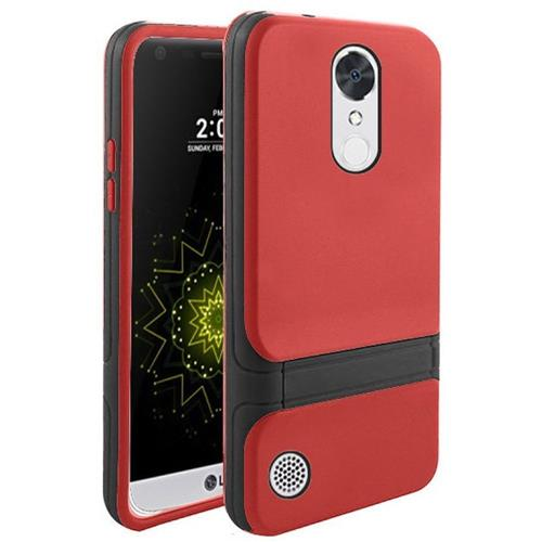 Insten Hard Dual Layer TPU Case w/stand For LG Grace 4G/Harmony/K20 Plus/K20 V, Red/Black