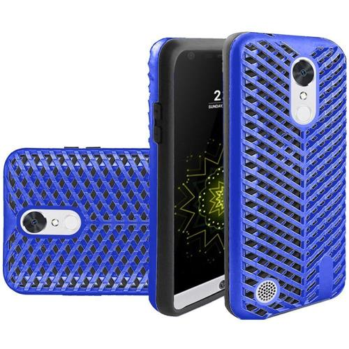 Insten Hard Hybrid Rubberized Silicone Case For LG Grace 4G/Harmony/K20 Plus/K20 V, Blue/Black