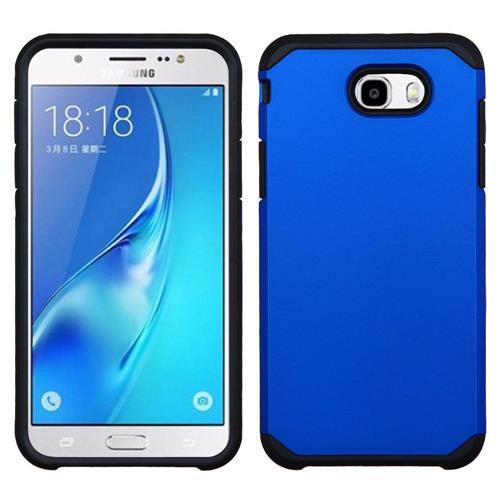 Insten Hard Dual Layer TPU Cover Case For Samsung Galaxy J7 (2017)/Sky Pro - Blue/Black