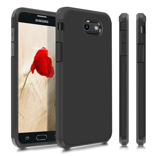 Insten Hard Dual Layer TPU Cover Case For Samsung Galaxy J7 (2017)/Sky Pro - Black