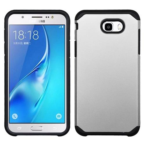 Insten Hard Hybrid TPU Case For Samsung Galaxy J7 (2017)/Sky Pro - Silver/Black