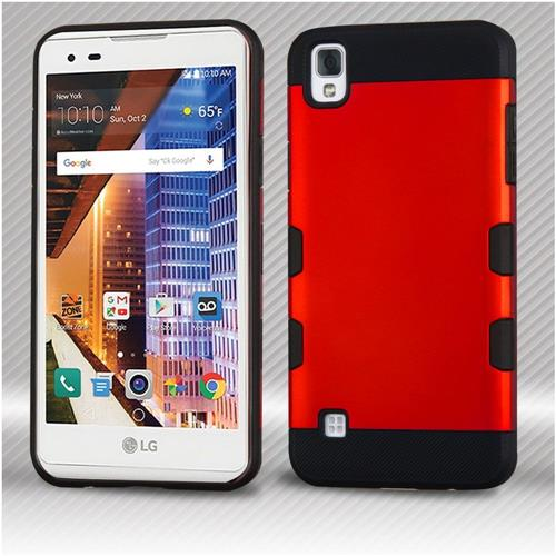Insten Hard Hybrid TPU Case For LG Tribute HD/X STYLE - Red/Black