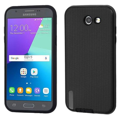 Insten Hard Dual Layer TPU Case w/Holster For Samsung Galaxy Express Prime 2/J3 (2017) - Black