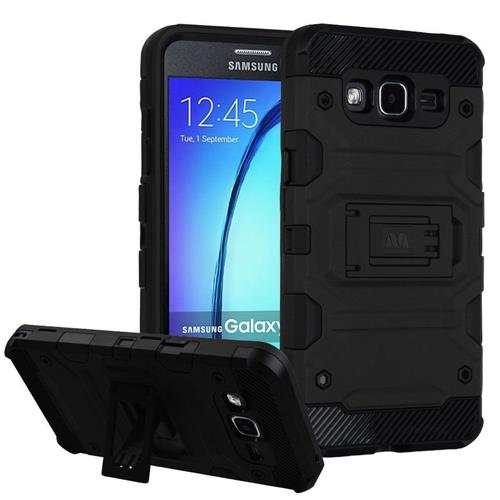 Insten Hard Hybrid TPU Cover Case w/stand For Samsung Galaxy On5 - Black