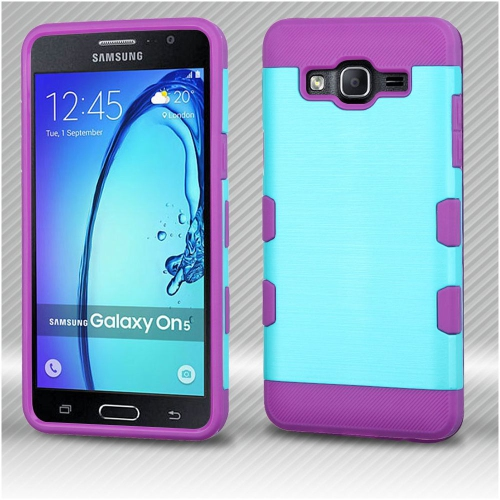 Insten Hard Hybrid TPU Cover Case For Samsung Galaxy On5 - Blue/Purple