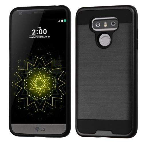 Insten Hard Hybrid TPU Case For LG G6 - Black