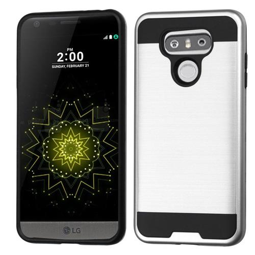 Insten Hard Hybrid TPU Case For LG G6 - Silver/Black