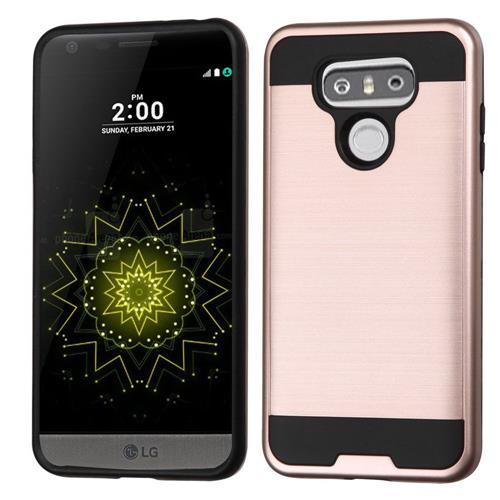 Insten Hard Hybrid TPU Cover Case For LG G6 - Rose Gold/Black