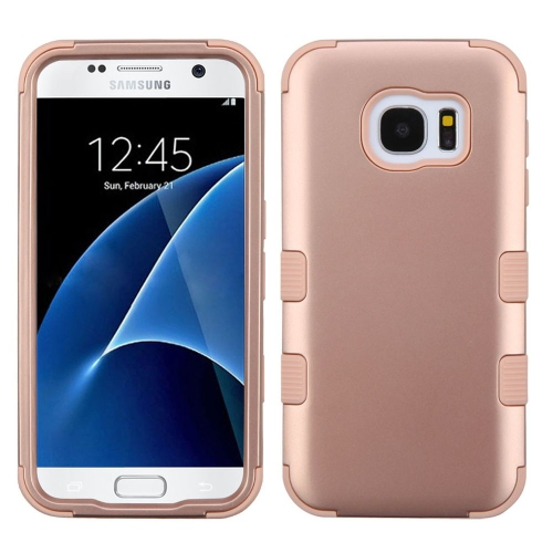 Insten Tuff Hard Hybrid Rubber Silicone Cover Case For Samsung Galaxy S7 - Rose Gold