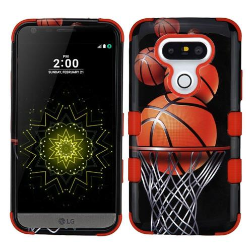 Insten Tuff Basketball Hoop Hard Hybrid Silicone Case For LG G5 - Black/Brown