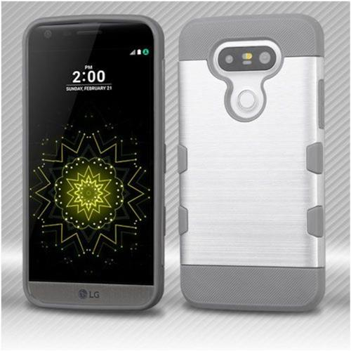 Insten Hard TPU Cover Case For LG G5 - Silver/Gray