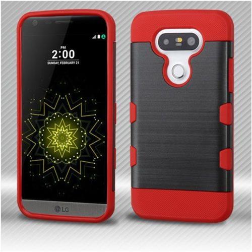 Insten Hard TPU Case For LG G5 - Black/Red