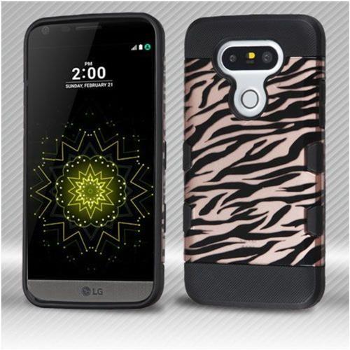 Insten Zebra Hard TPU Cover Case For LG G5 - Rose Gold/Black