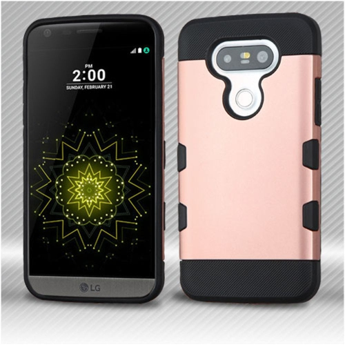 Insten Hard TPU Cover Case For LG G5 - Rose Gold/Black