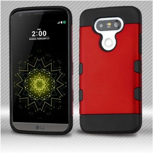 Insten Hard TPU Case For LG G5 - Red/Black