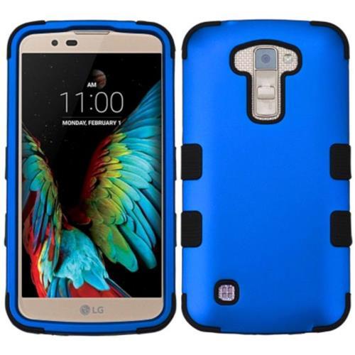 Insten Tuff Hard Hybrid Silicone Cover Case For LG K10 (2016) - Blue/Black