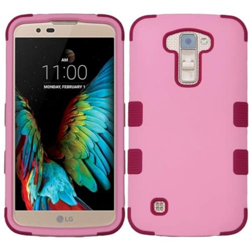 Insten Tuff Hard Hybrid Rubber Silicone Case For LG K10 (2016) - Pink