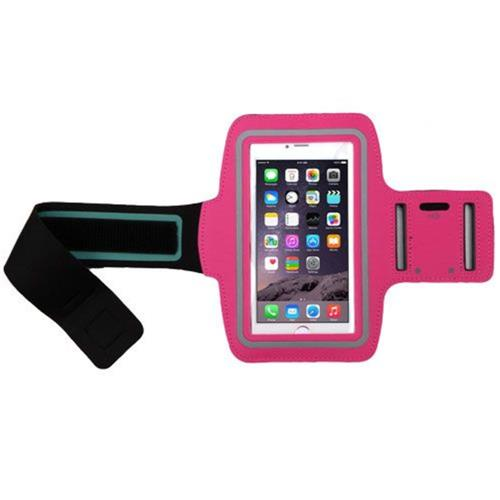 Insten Vertical Pouch Universal Sport Armband with Adjustable Armband, Hot Pink