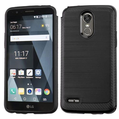 Insten Hard Hybrid Brushed TPU Case For LG Stylo 3 - Black
