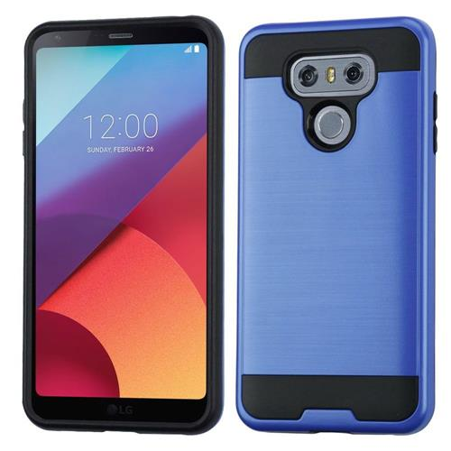 Insten Hard Hybrid Brushed TPU Case For LG G6 - Blue/Black