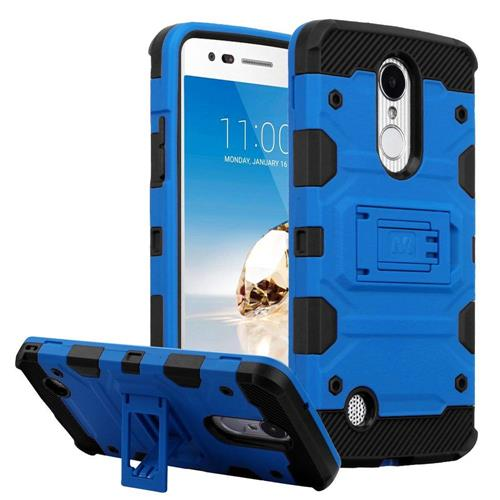 Insten Hard TPU Case w/stand For LG Aristo/Fortune/K4 (2017)/K8 (2017)/LV3/Phoenix 3, Blue/Black