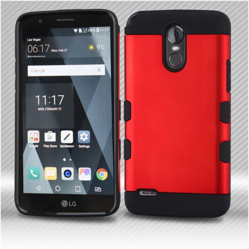 Insten Tuff Hard Hybrid TPU Case For LG Stylo 3 - Red/Black