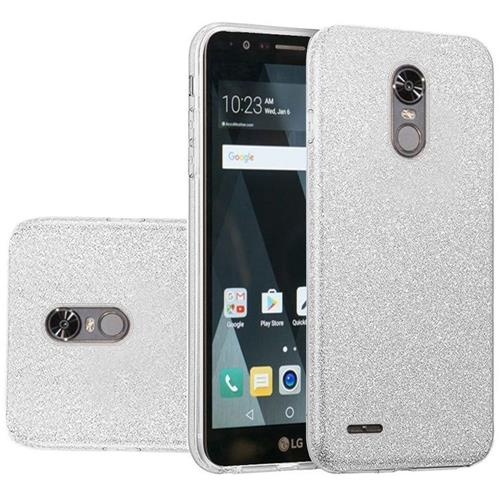 Insten Hard Glitter TPU Cover Case For LG Stylo 3 - Silver