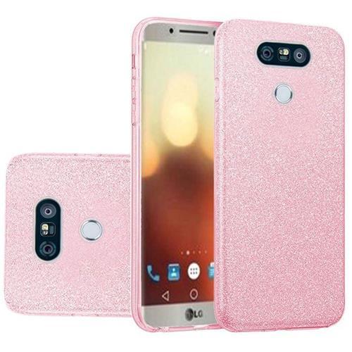 Insten Hard Glitter TPU Case For LG G6 - Pink