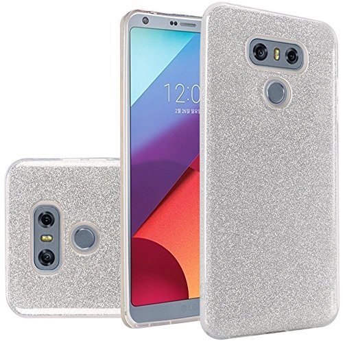 Insten Hard Glitter TPU Cover Case For LG G6 - Silver